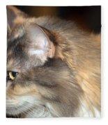 A Contemplative Little Princess Fleece Blanket