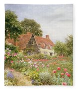 A Cottage Garden Fleece Blanket