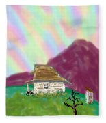A Cottage In The Alps Fleece Blanket