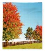 A Country Autumn Fleece Blanket