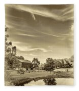 A Country Place 3 - Sepia Fleece Blanket