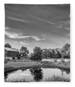 A Country Place Bw Fleece Blanket