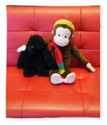 A Couple Of Monkeys Fleece Blanket