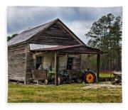 A Crooked Little Barn Fleece Blanket