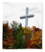 A Cross In Tennessee Fleece Blanket