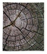 A Cut Above - Patterns Of A Tree Trunk Sliced Across Fleece Blanket