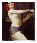 A Damascan Dancer Fleece Blanket