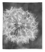 A Dandelion Black And White Fleece Blanket
