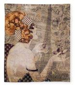 A Date With Paris II Fleece Blanket