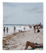 A Day At Paradise Beach Fleece Blanket