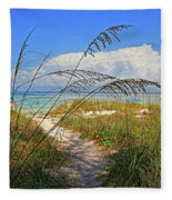 A Day At The Beach Fleece Blanket