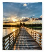 A Day At The Lake Fleece Blanket