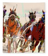 A Day At The Races 2 Fleece Blanket