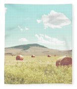 A Day In The Fields Fleece Blanket