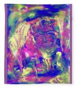 A Day To Meditate Fleece Blanket