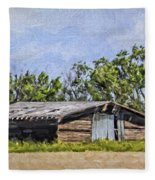 A Deserted Farm Fleece Blanket