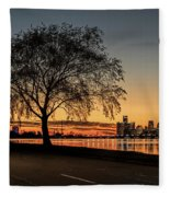 A Detroit Sunset - The View From Belle Isle Fleece Blanket