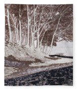 A Different World #1. Groove Of Trees Fleece Blanket