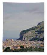 A Distant View Cefalu Sicily Fleece Blanket