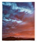 A Divided Sky At Sunset Fleece Blanket