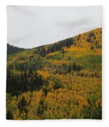 A Drive Throw The Forest In The Fall Fleece Blanket