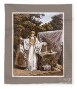 A Druid In His Judicial Habit Fleece Blanket
