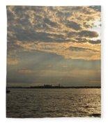 A Evening With Hudson River Fleece Blanket