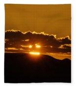 A Face In The Sunrise  Fleece Blanket