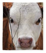 A Face You Can Love - Cow Art #609 Fleece Blanket