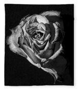 A Fading Rose Fleece Blanket
