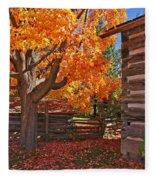 A Fall Day Fleece Blanket
