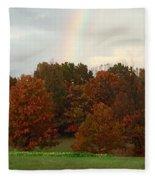 A Fall Rainbow Fleece Blanket