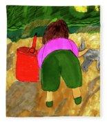 A Fall Walk On The Beach Fleece Blanket