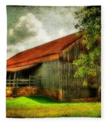 A Farm-picture Fleece Blanket