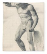 A Faun With Pipes Fleece Blanket