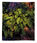 A Fern Botanical By H H Photography Of Florida Fleece Blanket