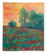 Field Of Beauty Fleece Blanket