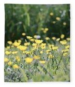 A Field Of Buttercups Fleece Blanket