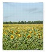 A Field Of Smiles Fleece Blanket