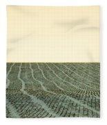 A Field Stitched Fleece Blanket