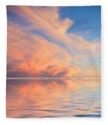 A Fiery Horizon Fleece Blanket