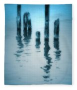 A Fleeting Blue Fleece Blanket