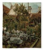 A Flemish Garden Fleece Blanket