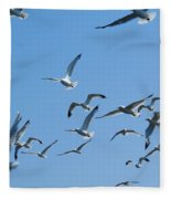 A Flock Of Seagulls Fleece Blanket