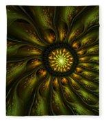 A Floral Feeling Fleece Blanket
