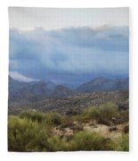 A Foggy Winter Morning  Fleece Blanket