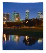 A Fort Worth Night Fleece Blanket