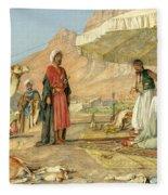 A Frank Encampment In The Desert Of Mount Sinai 1842 Fleece Blanket