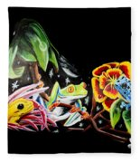 A Frogs Life Fleece Blanket