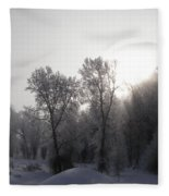 A Frosty Morning Fleece Blanket
